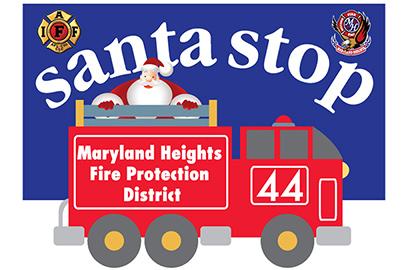 Maryland Heights FPD Santa Stops